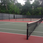 Due tra le decine di campi da tennis a The Woodlands